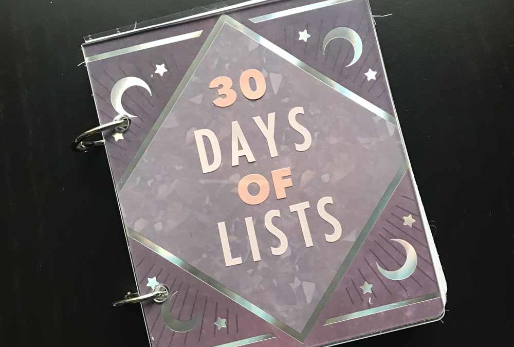 My album for the 30 Days of Lists March edition