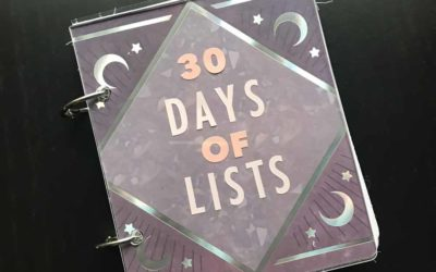 30 Days of Lists March 2019 edition