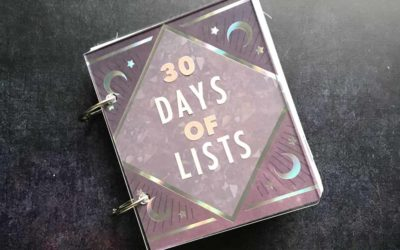 30 Days of Lists – March 2019 edition